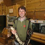 James with a constrictor