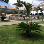 Inside the grounds of the Riu