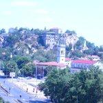 Blick vom Hotel auf den Zar Boris III. Obedinitel Boulevard und die Altstadt