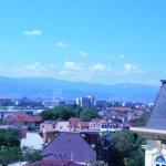 Blick vom Hotel auf das benachbarte Wohnviertel