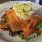 The salmon and crab salad