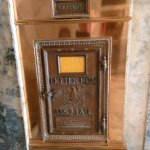 An old time mailbox from the 30s? Of course no longer in use,in the lobby of the hotel.