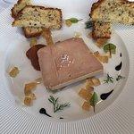 Amuse Bouchet, starter of Fois Gras, Fillet of sole and dessert taster