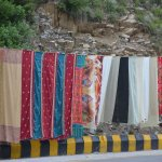Head scarfs for ladies on display on roadsides