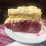 Berry cake with mold