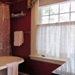 Thomas Wolfe Suite:  clawfoot tub/shower combo