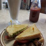 BLT with chocolate shake