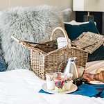 Complimentary breakfast delivered to your door in a picnic basket