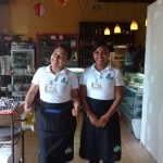 Two of their dedicated waitress