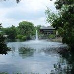 Fountain in Waterfowl Lake