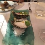 Oysters with lime foam (must try)