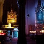 luci all'nterno del santiario