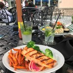 Salmon Steak at outside Patio