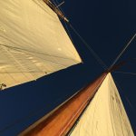 Looking up at the sails