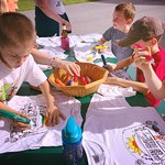 kids have fun coloring their aces high souveneirs shirts