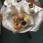 the Headland Hotel Cream Tea . price £10 . . Was delicious!