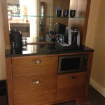 Coffee station with refrigerator drawer