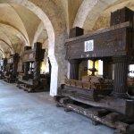 Original historische Traubenpressen