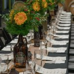 Scene from a beer dinner in the brewery
