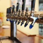 Taps in the beer hall