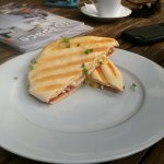 cranberry and chicken panini