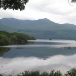Stunning scenery from our carriage of Killarney's beautiful lakes in the park!
