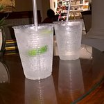 Plastic cups used early in evening - not 5 star!