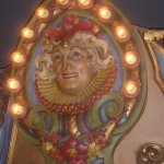 Close up of the top of the Carousel bar
