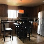 full kitchen in 2 bedroom suite