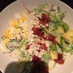 The salmon crusted crab special and Cobb salad.