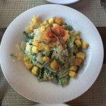 Caesar salad. Just the way a Caesar salad should be. Delicious.