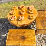 Tic-tac-toe for our younger guests in the outdoor rec area