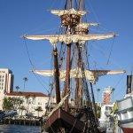 Scale replica of Juan Cabrillo's ship- discoverer of San Diego Bay