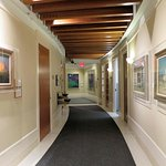 Typical hallway with western art