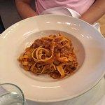 Tagliatelli with classic meat tomato sauce