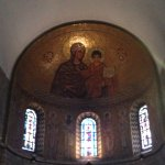 The mosaic in the apse depicting Mary with Jesus