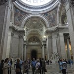 Inside the Pantheon with its large dome