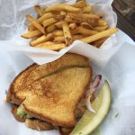 'Tom's Hollywood' sandwich - grilled cheese meets salad.  Delicious!!!