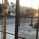 View from room of Sunset Boulevard in the Echo Park neighborhood.