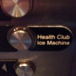 In case you need ice, head to the second floor.