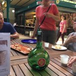 Tasting the local liquor, Unicum!!
