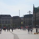 City Hall, town center/market in Hamburg