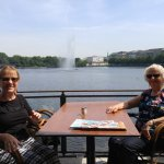 Reliving past experiences, lunch again on the Alster , Hamburg