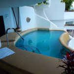 Private pool inside our suite