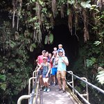 Thurston Lava Tube. Hayley was a hilarious tour guide here, barking at obnoxious people.