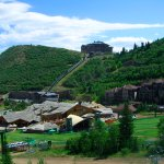 Deer Valley chair lift village in summer
