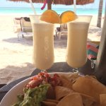 Pina Coladas and Chips & Guac by the beach!