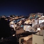 Night view of Firostefani from the balcony
