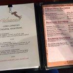 A peek at the menu