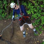 Rappelling after the zip lines